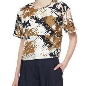 Rag and bone silk top/splatter pattern